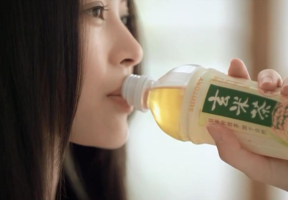 三得利玄米茶饮料广告