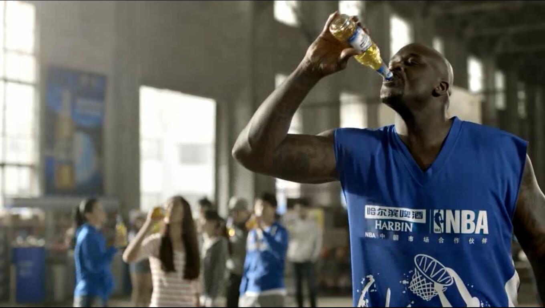 哈尔滨啤酒与NBA合作广告片
