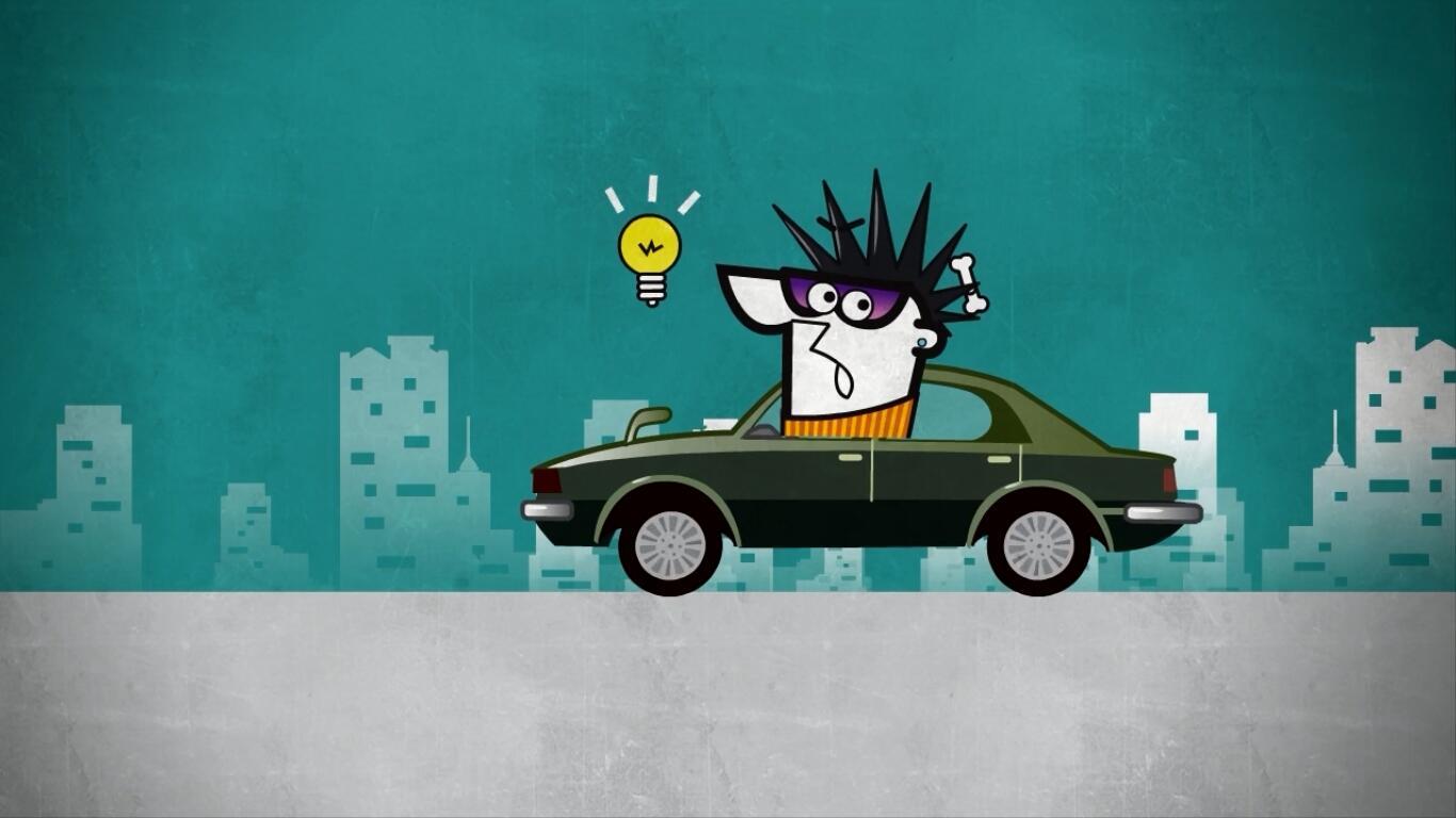 卡罗拉汽车宣传动画